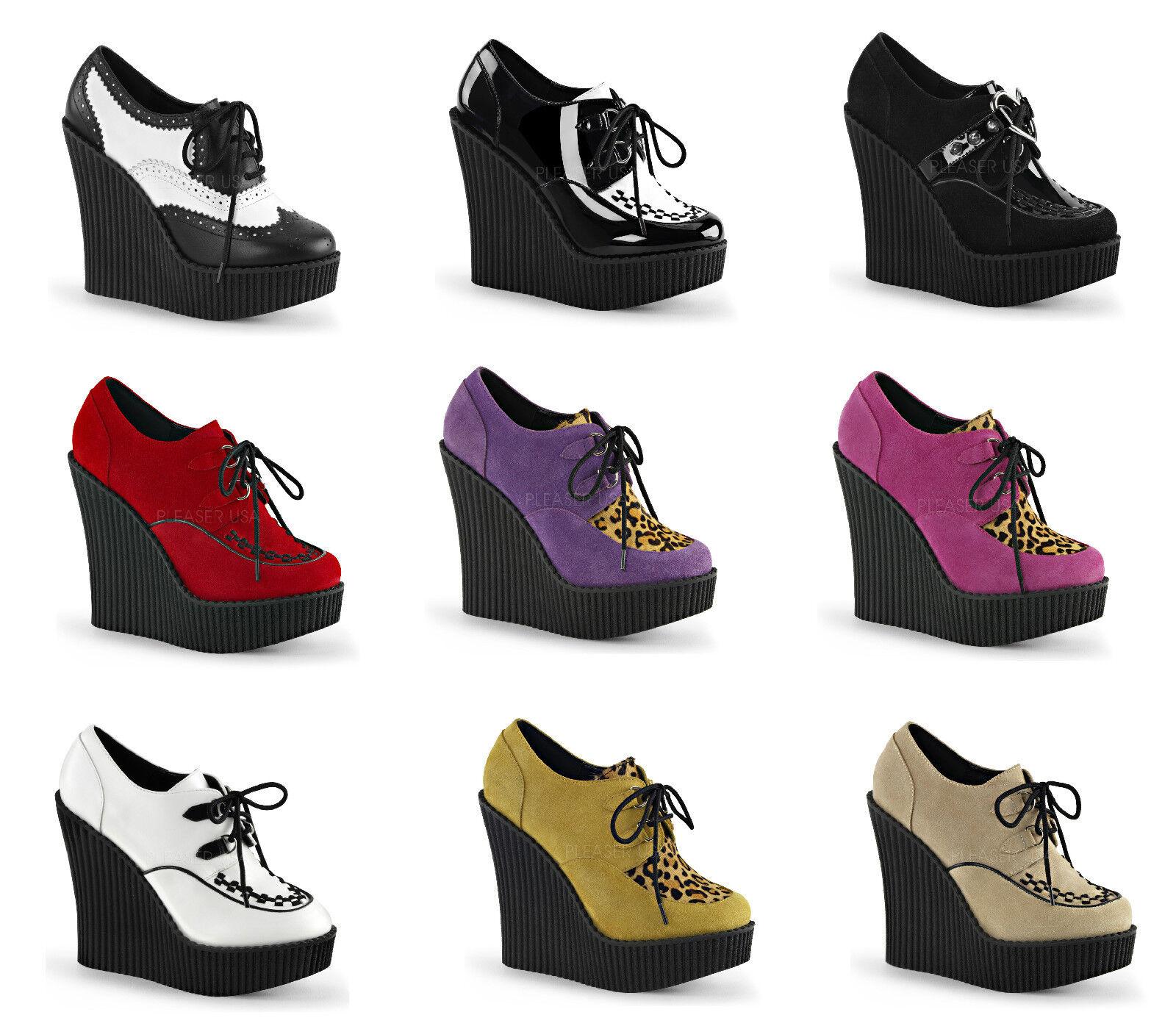 Demonia CREEPER-302 304 306 307 Women's Platform Wedges