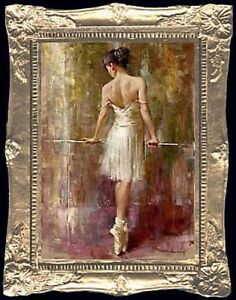 BALLET POSE Dollhouse Picture - Framed Miniature Art - MADE IN AMERICA