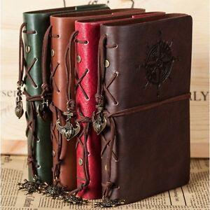 """Traveler's Handbook"" 1pc Vintage Diary Faux Leather Notebook Journal Kraft Memo"