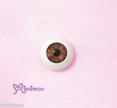 4Super Dollfie Luts Pullip SD 1/3 bjd Doll Eye Acrylic Plastic 22mm Brown