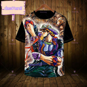 New JoJo/'s Bizarre Adventure Short Sleeve Anime T-Shirt Tops Unisex