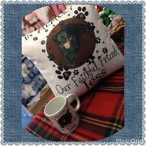 peggys DOG CAT memory of our faithful friend personalised PET cushion gift
