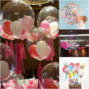 SELF-INFLATING-100-pcs-Clear-Baloons-Transparent-Balloons-Wedding-Birthday-Party