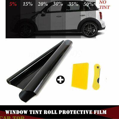 Car Black Car Home Glass Window Tint Tinting Film and shade Roll 50cmx1m 15/% VLT