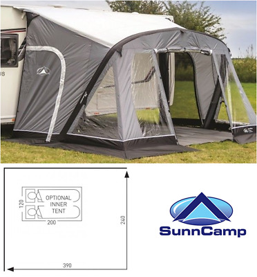 Sunncamp swift 390 SC AIR inflatable caravan porch awning ...