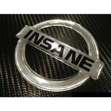 INSANE Badge for Nissan Chrome Embossed Metallic Nismo R34 R32 GTR 180SX