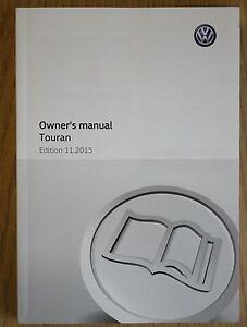 genuine vw touran handbook owners manual 2015 2017 book 9930 ebay rh ebay co uk vw touran owners manual download vw tiguan owner's manual