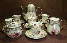 THUN  KARLOVARSKY Rose Pattern Design Fine Porcelain China Tea Set - 17pc.