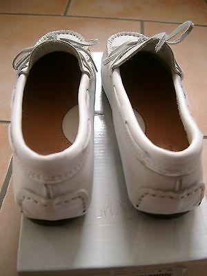 (Z1) Atlanta Mocassin Girls Schuhe Collegeschuh Lederschuhe +Logo Aufnäher gr.31