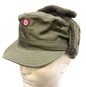 74722688251 AUSTRIAN ARMY COLD WEATHER WINTER FIELD HAT CAP    BADGE 55cm    57cm  AVAILABLE