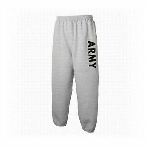 US ARMY PHYSICAL TRAINING SWEAT PANTS SPORT GREY