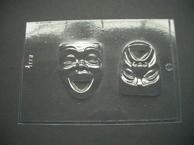 2 on 1 COMEDY/TRAGEDY MASK chocolate mould/moulds/theatre/actor/actress/drama