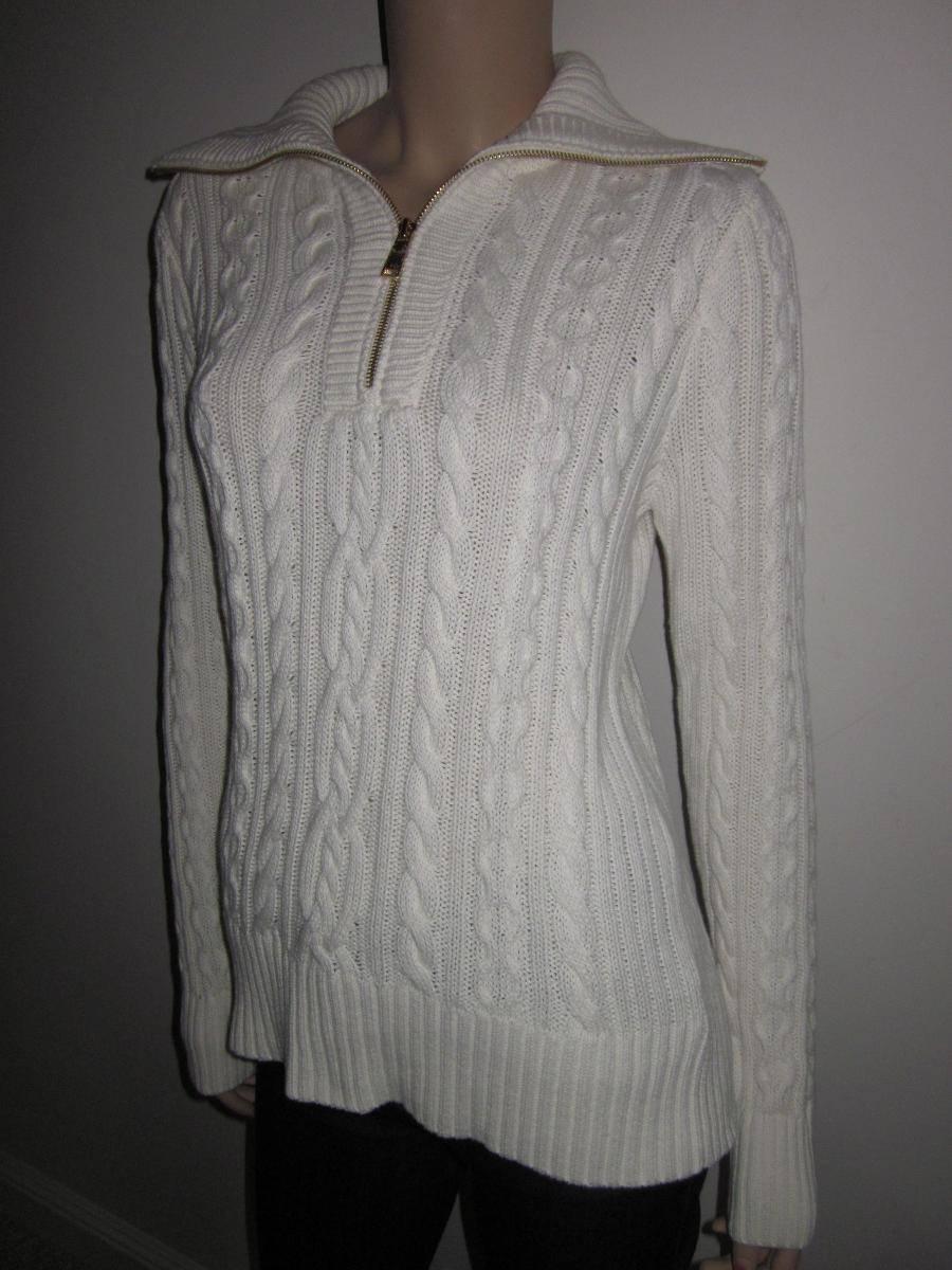 Ralph Lauren Cream Half 1 2 Zip Sweatshirt NWT