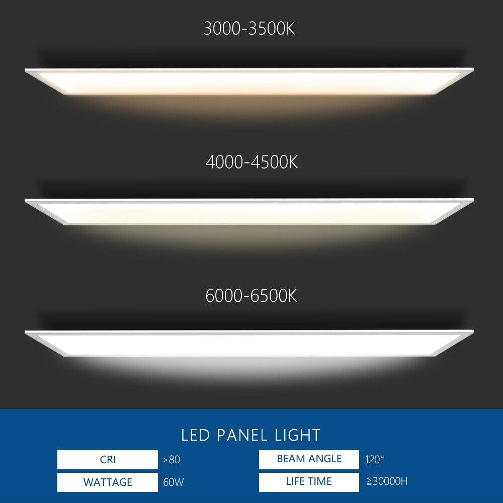 TÜV ✓ 3000-6500K 36-48w LED Ultra Slim ✓ Deckenleuchte//Wandleuchte EMV Trafo