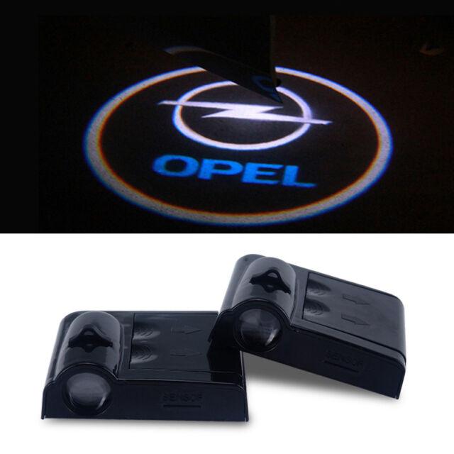 2x Opel LED Projektor Türbeleuchtung Einstiegsbeleuchtung Logo Licht