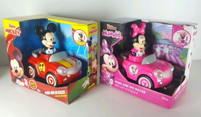 Disneys Mickey Mouse Push and Go Racer Cars FREE SHIPPING