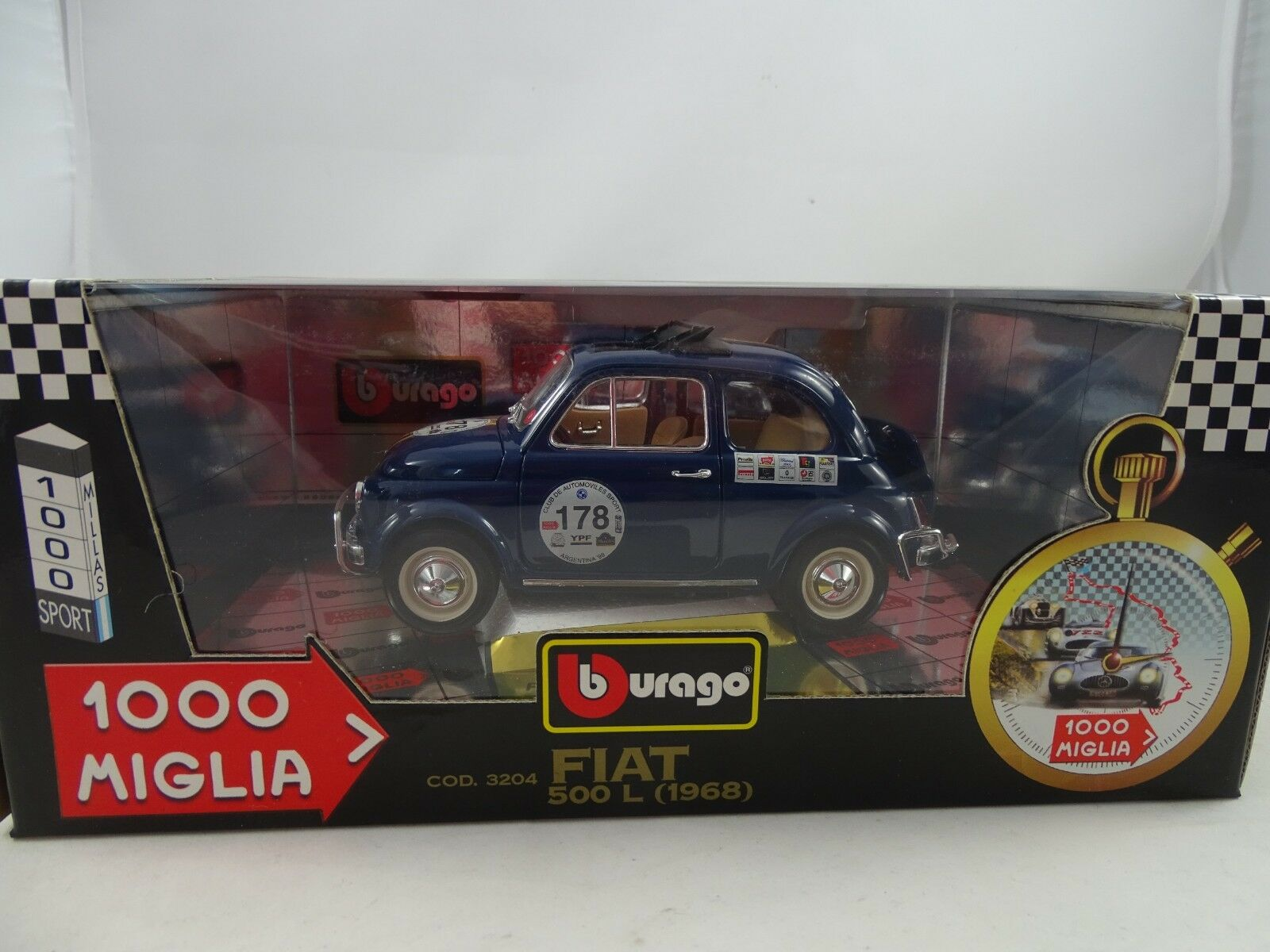 1 18 Bburago MIGLIA FIAT 500 L 1968 bluee  - RARITÄT §