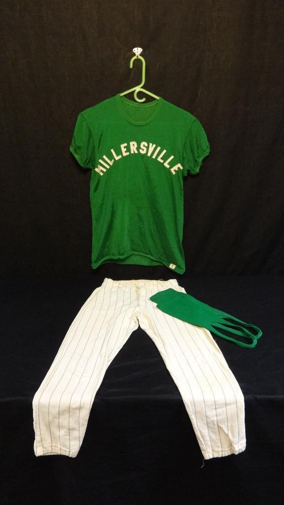 Vintage Millersville Universität Baseball Baseball Baseball Uniform Ca. 597ms fb31d4