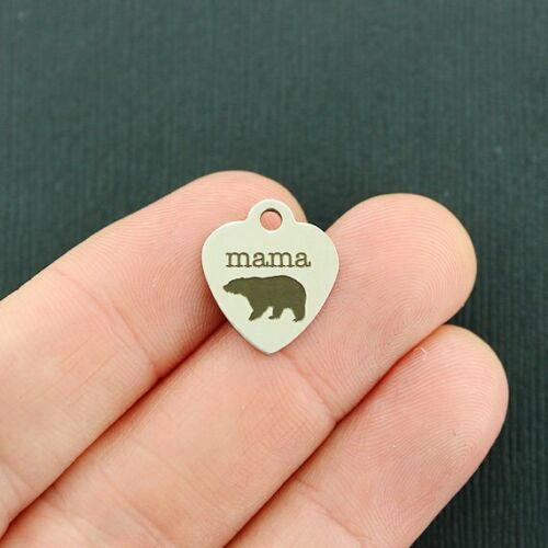 Smaller Size Quantity Options BFS4344 Mama bear Stainless Steel Charms