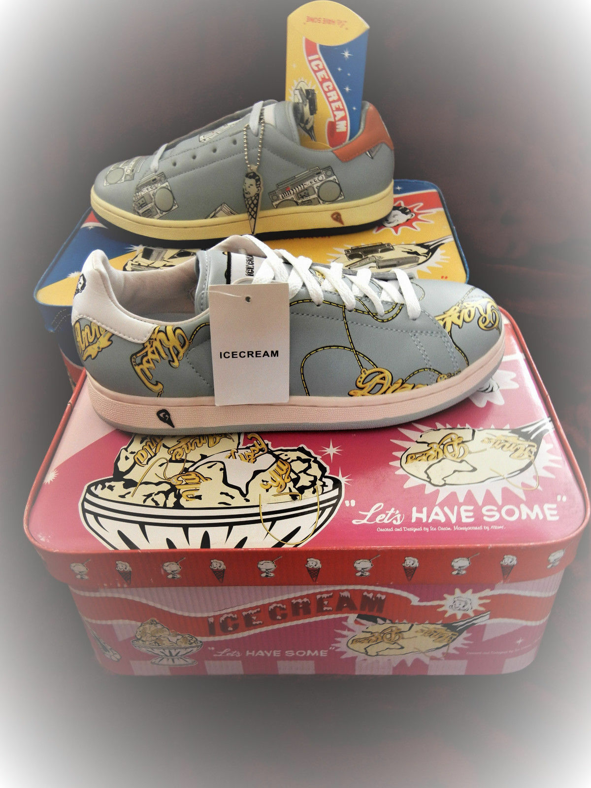 Reebok Ice Cream  JERSEY  856  SNEAKERS  Boutiques DS NameChain SIZE 8  ICECREAM