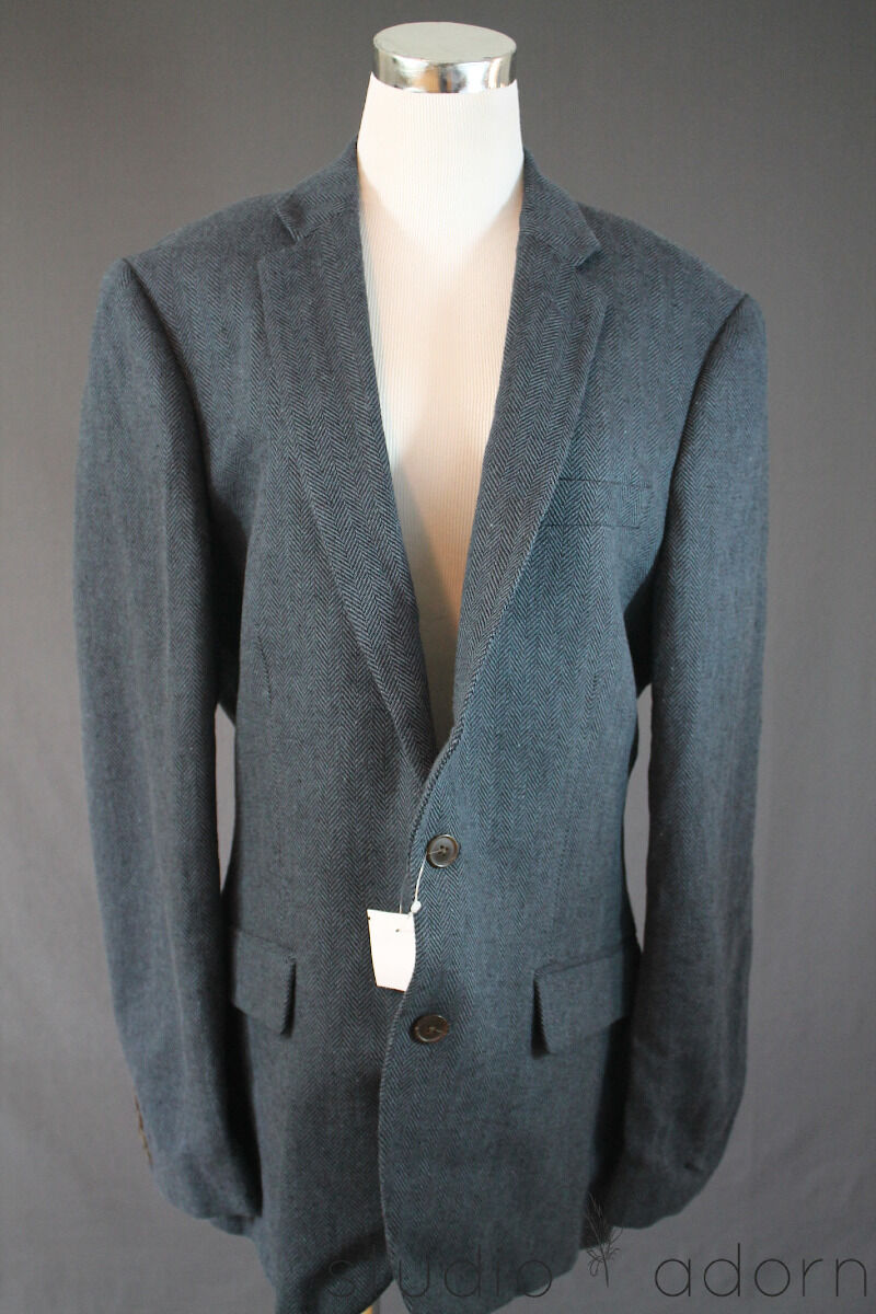 188 J.Crew Factory Thompson Sportcoat in Herringbone Linen-cotton 40 R 64505