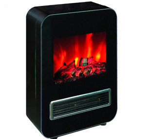 NEW, MiAmora Cube Fireplace Electrical Heater