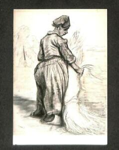 artist-vangogh: Peasant with Sickle, Seen from the Back