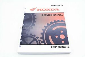 new service manual aquatrax arx1200 n3 2002 03 oem genuine honda rh ebay com 2008 Honda Aquatrax 2002 honda aquatrax service manual