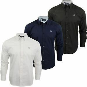 Para-Hombres-Camisa-Manga-Larga-Popelin-del-estiramiento-por-Pato-Y-Cubierta-039-raginald-039