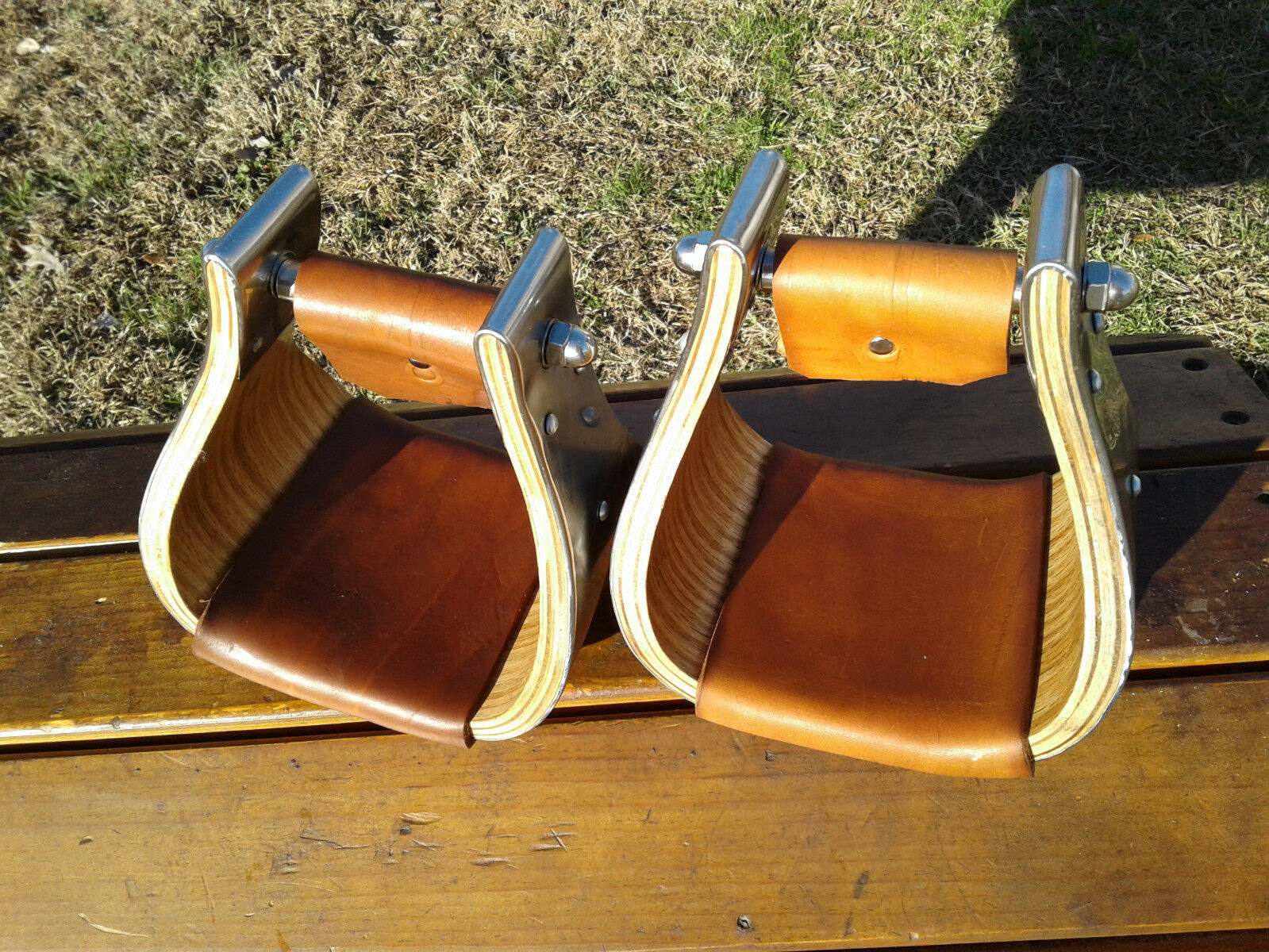 4  Stainless Monel Bell Ranch Roping Saddle Stirrups