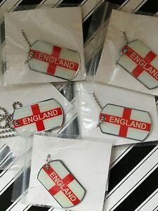 Angleterre Métal X5 St George Cross Drapeau Collier/dog Tag Football/sport Bnwt-afficher Le Titre D'origine
