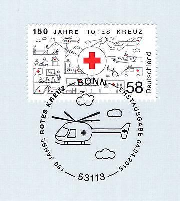 Brd 2013: Rotes Kreuz 150 Jahre! Nr. 2998! Bonner Ersttags-sonderstempel! 1a 156 Angenehm Bis Zum Gaumen