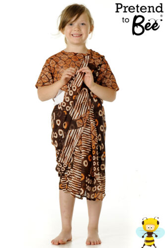 GIRLS CHILDRENS KIDS TRADITIONAL INDIAN ASIAN  LADY GIRL SARI COSTUME AGE 3-5-7