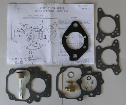gCARBURETTOR CARBY KIT CARTER BBS SUIT VALIANT RV1 SV1 AP6 VC 6Cyl 225c.i.