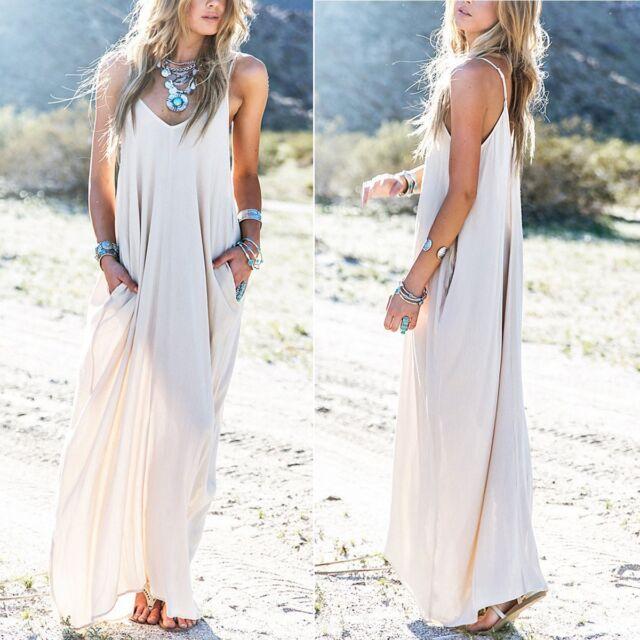 Sexy Women's Summer Boho Long Maxi Evening Party Dress Beach Dresses Sundress