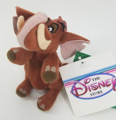 Bag Clip Keychain New Disney Store Tantor Bean Bag Plush Tarzan Elephant Cute