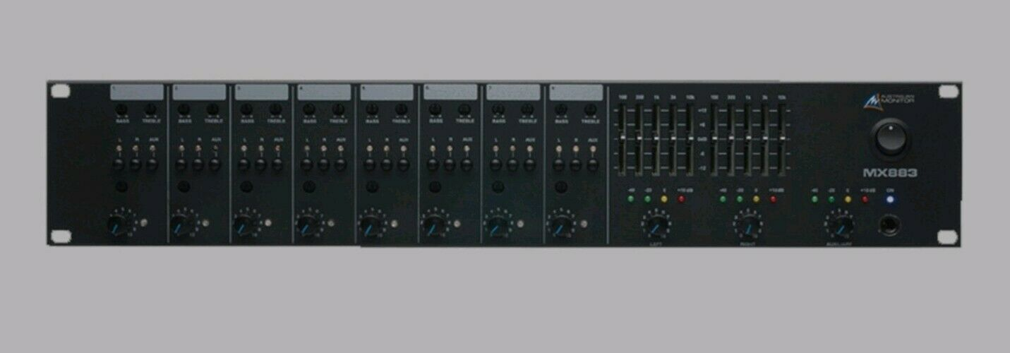 Australian monitor 8 channel stereo mic line mixer ,rare audio mixer rrp