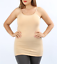 PLUS Basic Solid Woman Tank Top Camisole Adjustable LONG Cami Layering Tunic USA