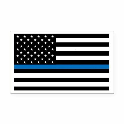 Police Officer Cop Thin Blue Line American Flag Car Magnet Decal Heavy Duty Usa