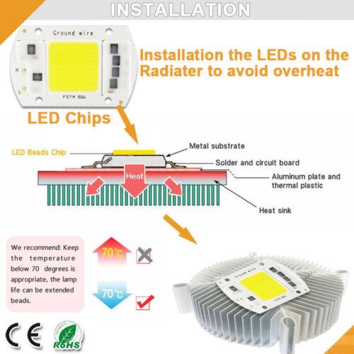 LED Chip Integrated COB 5W 20W 30W 50W 100W 220V Smart IC Driver Cold warm white