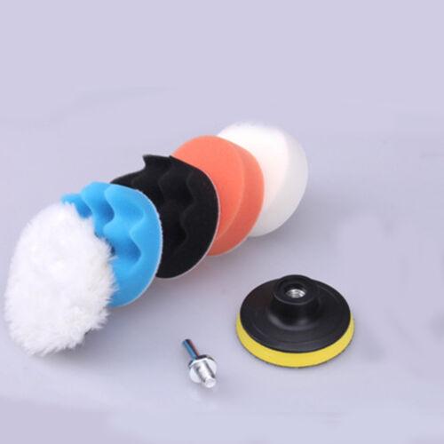 "3/"" Car Auto Polishing Sponge Pads Drill Adapter Waxing Buffing Polisher Compound"