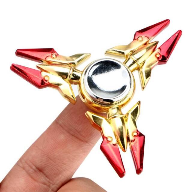 Hand Spinner Tri Fidget Finger Fingertip Gyro Steel Ball Desk Toy EDC Kids Adult
