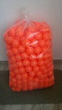 500 BRAND NEW SOFT PLAY BALLS -BALL PIT, POOL , COMMERCIAL GRADE CE - ORANGE