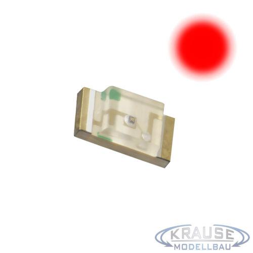 KM0040 50 Stück SMD LED 1206 rot klar