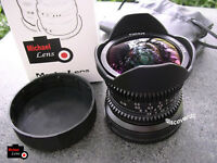 8mm F2.8 MF Fisheye Lens for SONY NEX E mount NEX-3 NEX-5 NEX-6 7 A5100 A6000