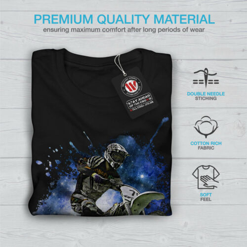 Motocross MOTO SPORT AUTO Uomini Manica Lunga T-shirt Nuovewellcoda