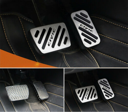 No drill Sport Fuel Brake AT Pedal Cover For North America Honda Civic 2016-UP