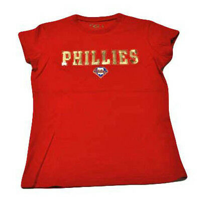 Zielstrebig Philadelphia Phillies Pailletten Damen T-shirt Klein Neu Top Wassermelonen Sport