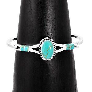 Handmade-Southwestern-Concho-Turquoise-Line-Cuff-Bracelet-Taxco-Mexico