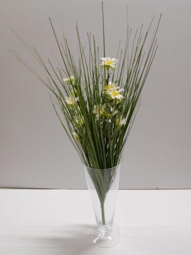 Grasbusch Gras Margerite  Kunstpflanze Dekopflanze 56 cm ungetopft 185819 F21